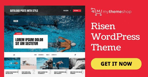 Tema Risen MyThemeshop - Template WordPress