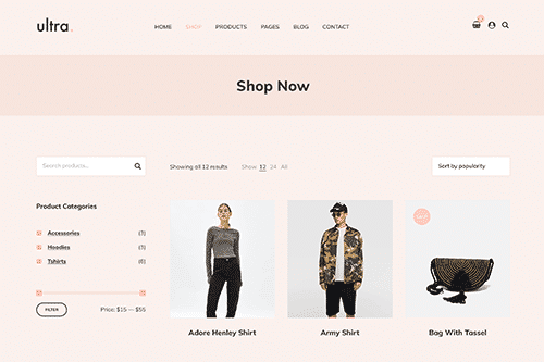 Tema Ultrastore - Template WordPress