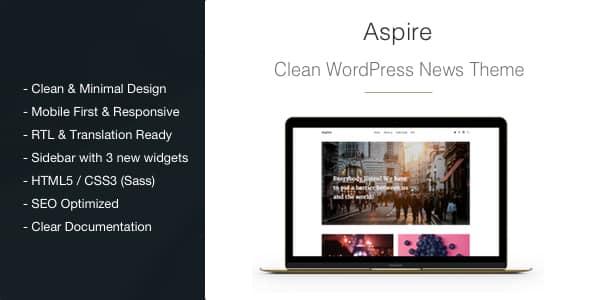 Tema Aspire - Template WordPress