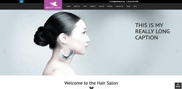 Tema Beauty Cuts Pro - Template WordPress