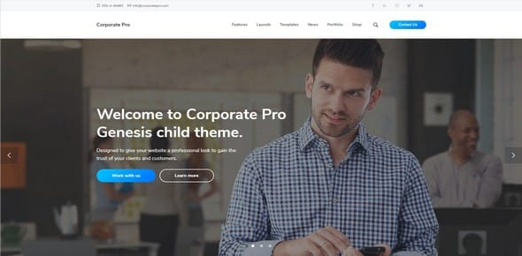 Tema Corporate Pro - Template WordPress
