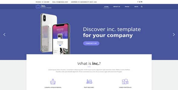 Tema Inc - Template WordPress