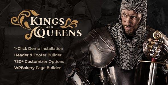 Tema Kings and Queens - Template WordPress