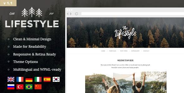 Tema The Lifestyle - Template WordPress