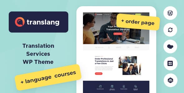 Tema Translang - Template WordPress