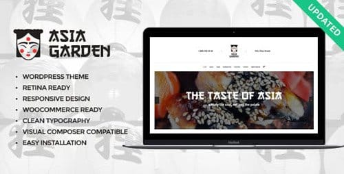 Tema Asia Garden - Template WordPress