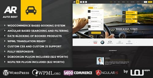 Tema Auto Rent - Template WordPress