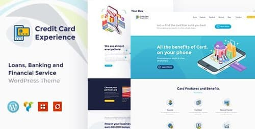 Tema Credit Card Experience - Template WordPress