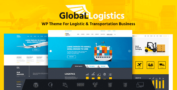 Tema Global Logistics - Template WordPress