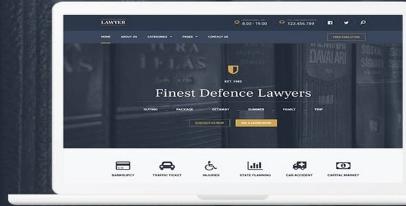 Tema Lawyer Mythemeshop - Template WordPress
