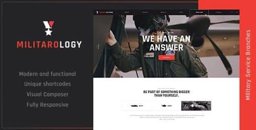 Tema Militarology - Template WordPress