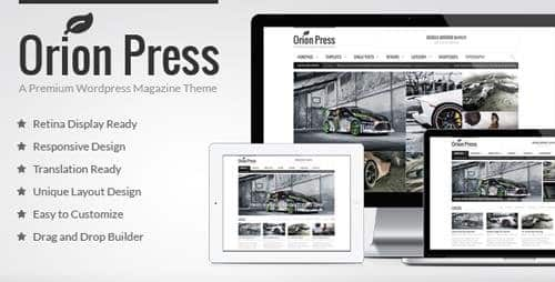 Tema Orion Press - Template WordPress