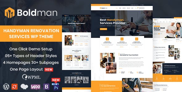 Tema Boldman - Template WordPress