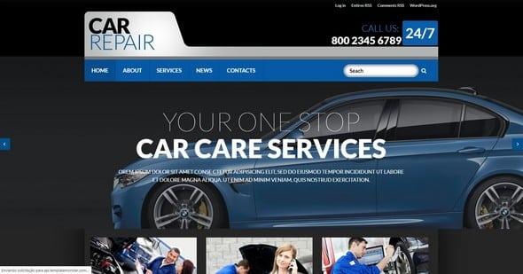 Tema Car Repair Zemez - Template WordPress