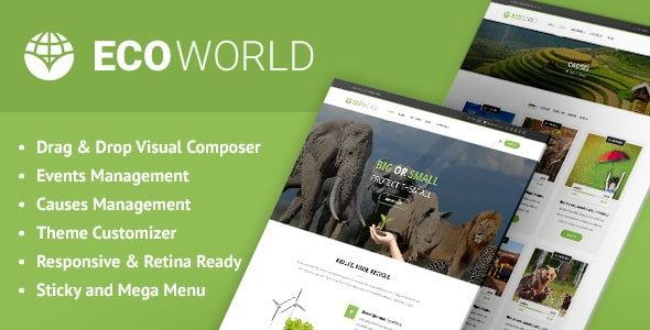 Tema Eco World - Template WordPress