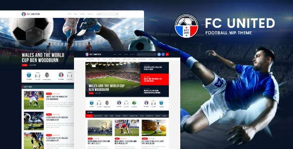 Tema Fc United - Template WordPress