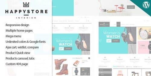 Tema HappyStore - Template WordPress