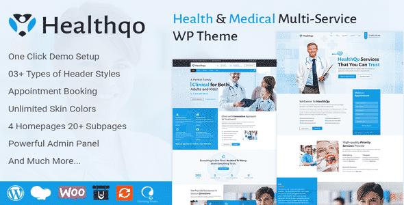 Tema Healthqo - Template WordPress