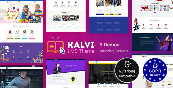 Tema Kalvi Education - Template WordPress