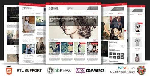 Tema Newsright - Template WordPress