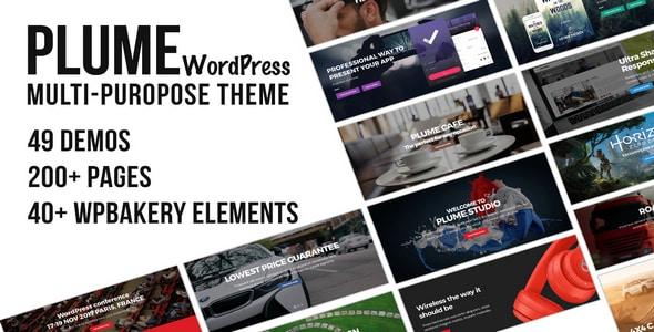 Tema Plume - Template WordPress
