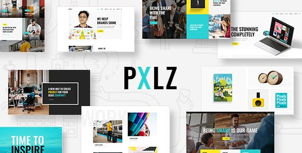 Tema Pxlz - Template WordPress