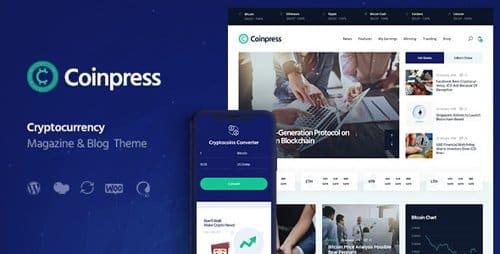 Tema Coinpress - Template WordPress