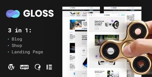Tema Gloss - Template WordPress