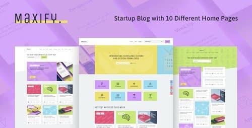 Tema Maxify - Template WordPress