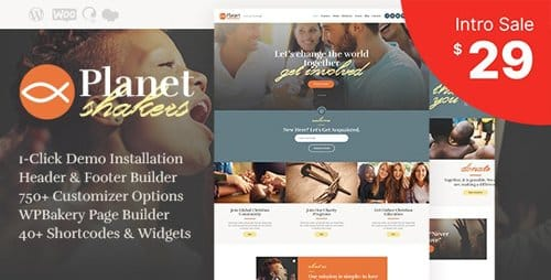 Tema Planet Shakers - Template WordPress
