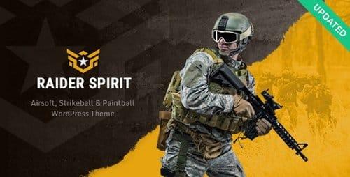 Tema Raider Spirit - Template WordPress
