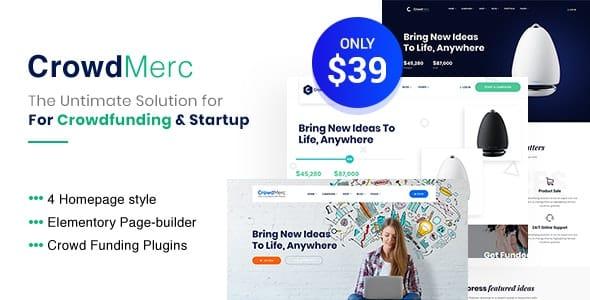 Tema CrowdMerc - Template WordPress
