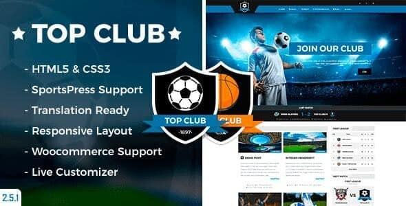 Tema Top Club - Template WordPress