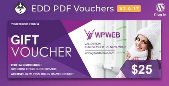 Plugin Easy Digital Downloads PDF Vouchers - WordPress