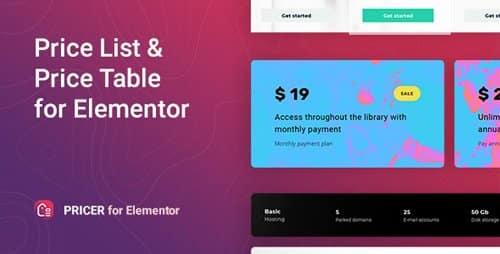 Plugin Pricer for Elementor - WordPress