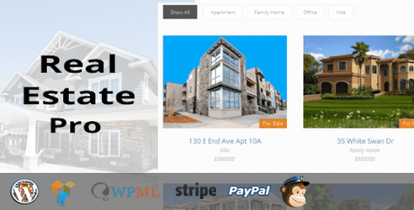 Plugin Real Estate Pro - WordPress