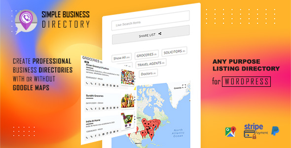 Plugin Simple Business Directory Pro - WordPress
