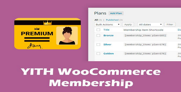 Plugin YITH WooCommerce Membership - WordPress