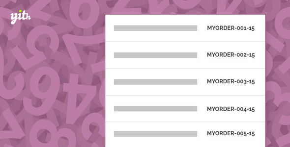 Plugin YITH WooCommerce Sequential Order Number - WordPress