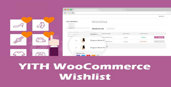 Plugin Yith WooCommerce Wishlist - WordPress