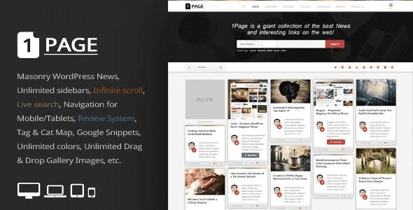 Tema 1Page - Template WordPress