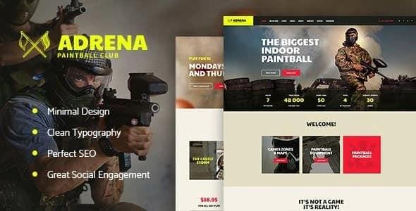 Tema Adrena - Template WordPress