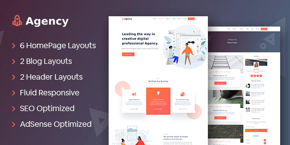 Tema Agency Mythemeshop - Template WordPress
