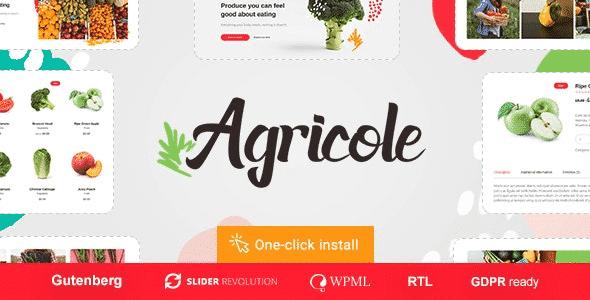 Tema Agricole - Template WordPress