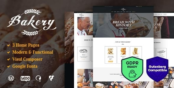 Tema Bakery AncoraThemes - Template WordPress