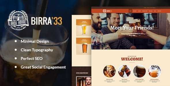 Tema Birra33 - TEmplate WordPress