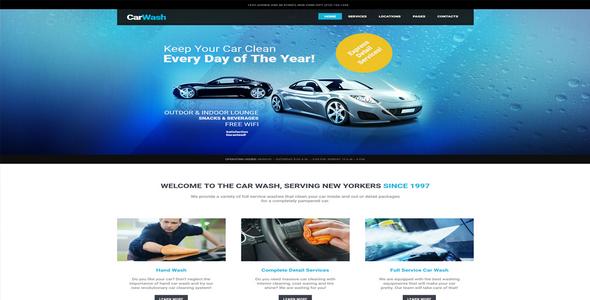 Tema Car Wash - Template WordPress