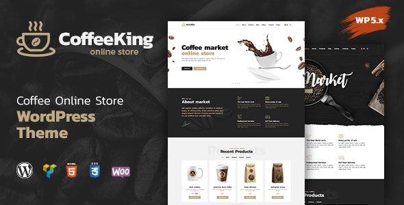 Tema CoffeeKing - Template WordPress