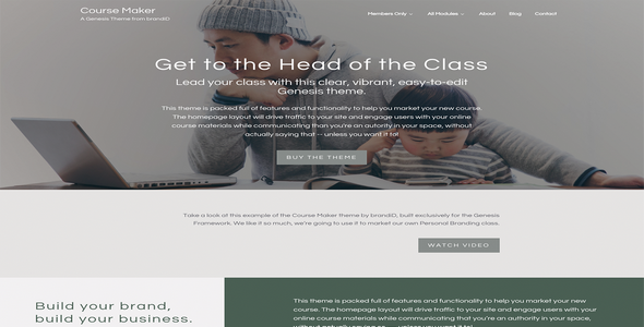 Tema Course Maker Pro - Template WordPress