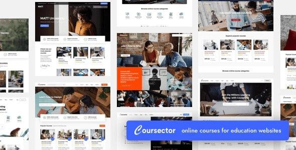 Tema Coursector - Template WordPress